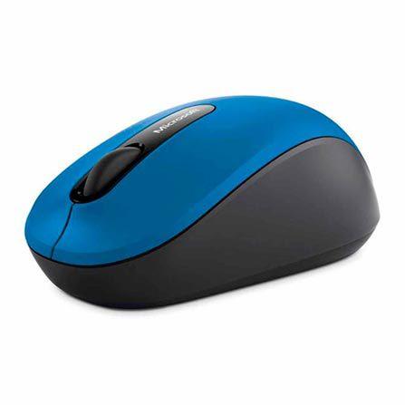 Mouse sem Fio Microsoft Mobile Bluetooth Azul e Preto - PN700028