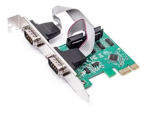 Placa PCI Express - 2 saídas Serial 1