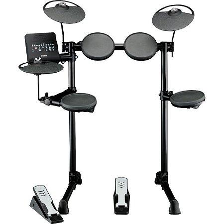 Bateria Eletrônica Yamaha Dtx400k 169 Vozes com Pratos 4 Pads Pedal de Bumbo e Máquina de Chimbal