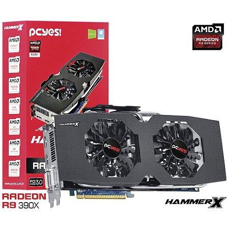 Placa de Vídeo Pcyes Radeon R9 390x Hammer x Dual-fan OC Edition 8gb Gddr5 512 Bits PH390X51208D5OC