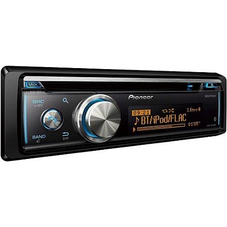 Rádio Automotivo Pioneer Dehx8780bt Entrada para CD USB SD e Bluetooth - Preto