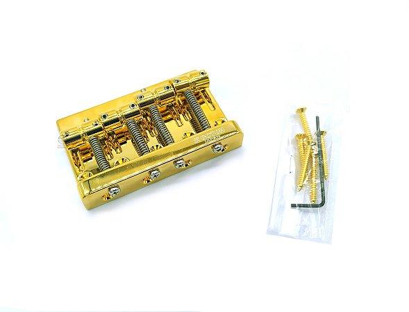 Ponte baixo 4 cordas Gotoh 201B-4 Dourada High Mass Japan