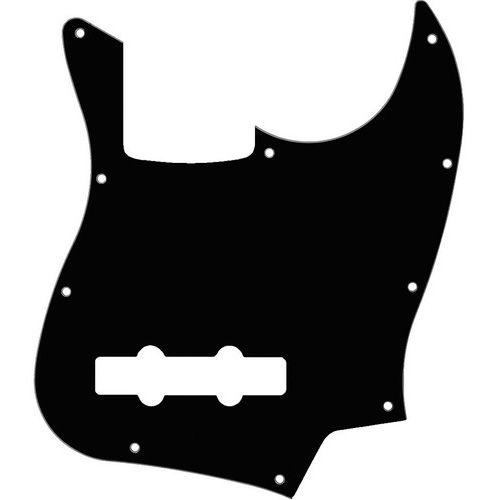 Escudo para baixo Jazz Bass preto BK 10 furos para 4 cordas