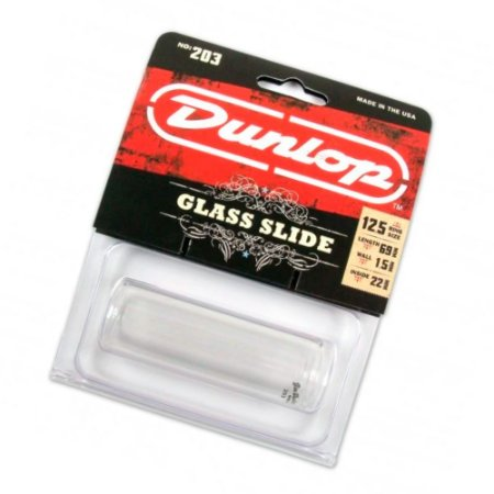 Slide vidro DUNLOP 203 pyrex fino Grande original