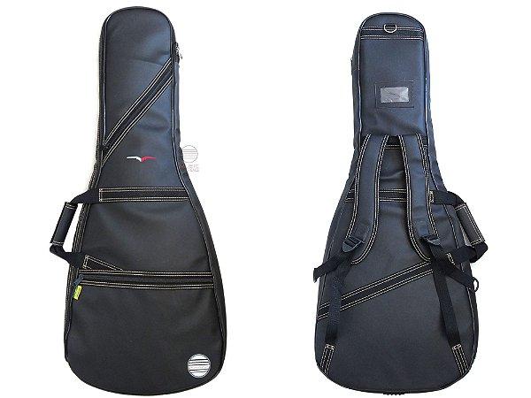 Capa bag guitarra Couro ecologico sintetico reforçado 06EX