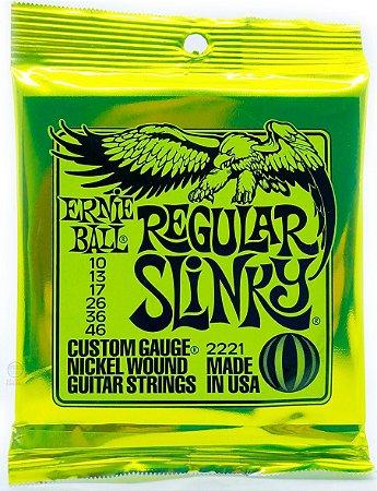 Encordoamento Ernie Ball 010 046 para guitarra P02221 Slinky