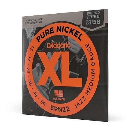 Encordoamento guitarra DADDARIO 013 056 EPN22 XL Pure Nickel