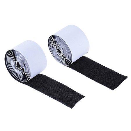 Velcro adesivo de pedal fixação dupla face 5 cm 2 mts fita