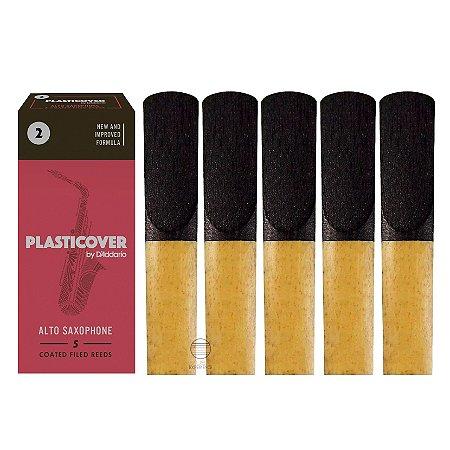 Palheta Plasticover sax alto numero 2  (caixa com 5 un)