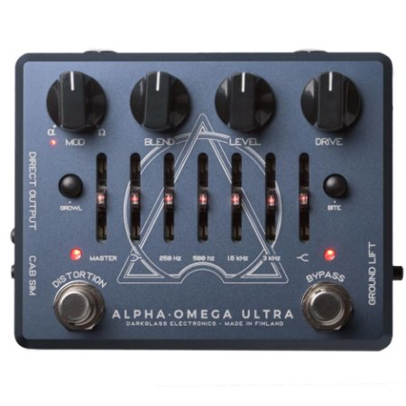 Pedal p/ baixo Darkglass Alpha Omega Ultra - Preamp + EQ + 2 Distortion