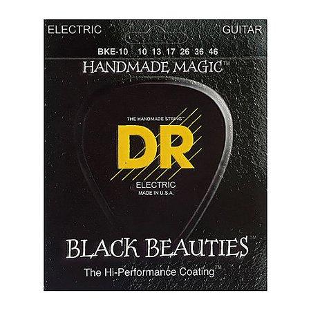 Encordoamento guitarra 010 DR STRINGS -Black Beauties BKE10