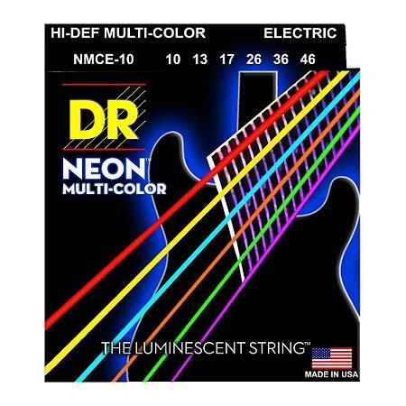 Encordoamento guitarra DR STRINGS - Neon multicolor 010 K3 NMCE10