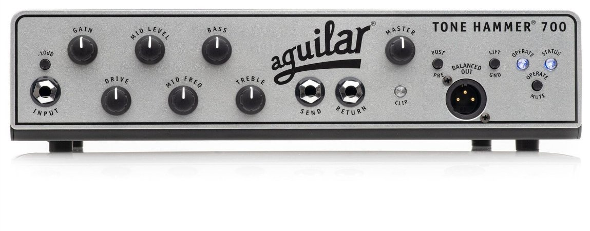Cabeçote AGUILAR Tone Hammer 700 watts TH700 - lançamento