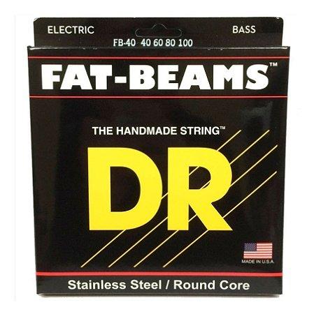 Encordoamento Baixo 4 Cordas Dr Strings Fat Beams 040 FB-40