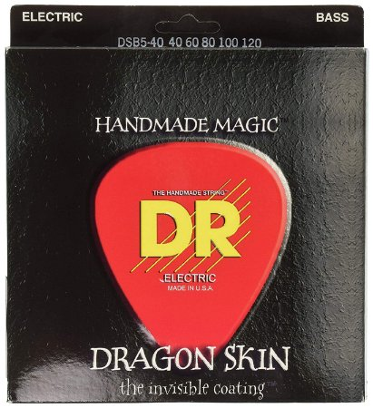 Encordoamento baixo 5 cordas DR strings 040 DRAGON SKIN DSB5-40
