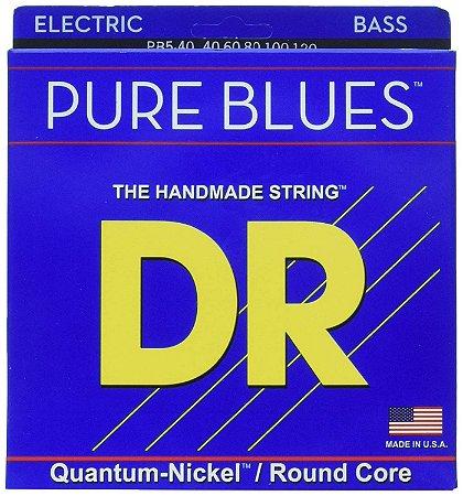 Encordoamento baixo 5 corda 040 DR Strings Pure Blues PB5-40