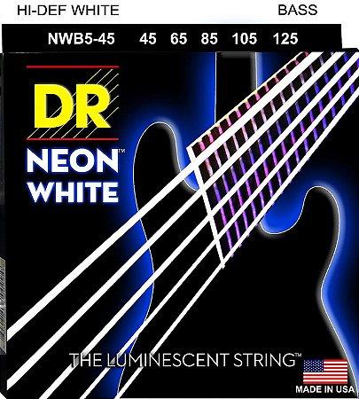 Encordoamento Baixo 5 Cordas Dr Strings neon white NWB5-45