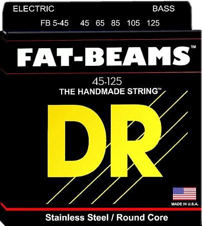 Encordoamento Baixo 5 Cordas 045 Dr Strings Fat Beam Fb5-125