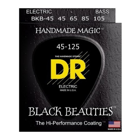 Encordoamento baixo 4 cordas DR STRINGS - Black Beauties 045