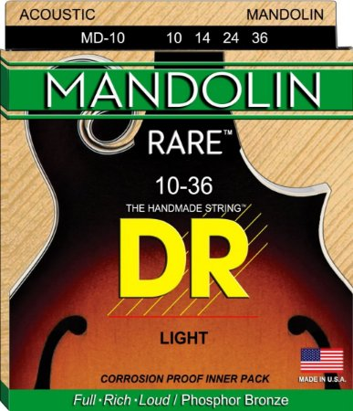 Encordoamento Mandolin DR STRINGS MD-10 rare - Bronze 010