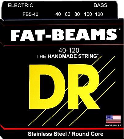 Encordoamento baixo 5 cordas 040 DR strings FAT BEAMS FB5-40