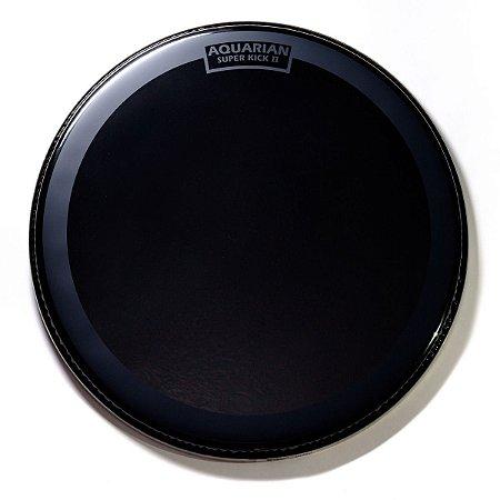 """Pele Aquarian 22"""" Reflector Supervick Black Drumhead REF22SK"""