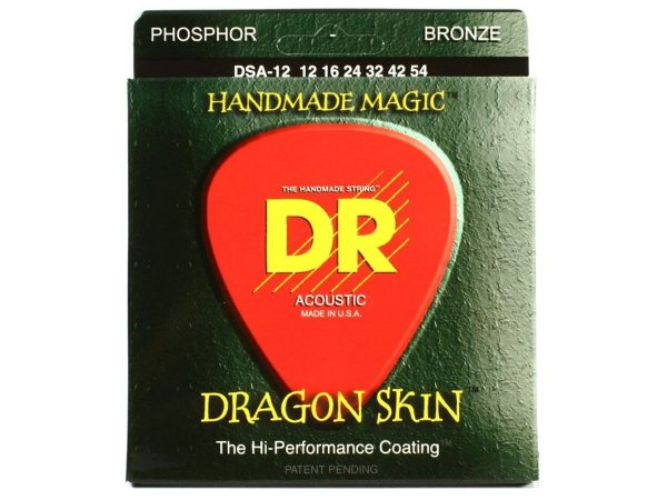 Encordoamento 012 DR Dragon Skin DSA-12 Coated violão aço