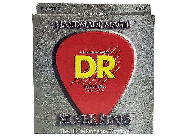 Encordoamento 045 Para baixo DR SILVER STARS Coated Sib-45