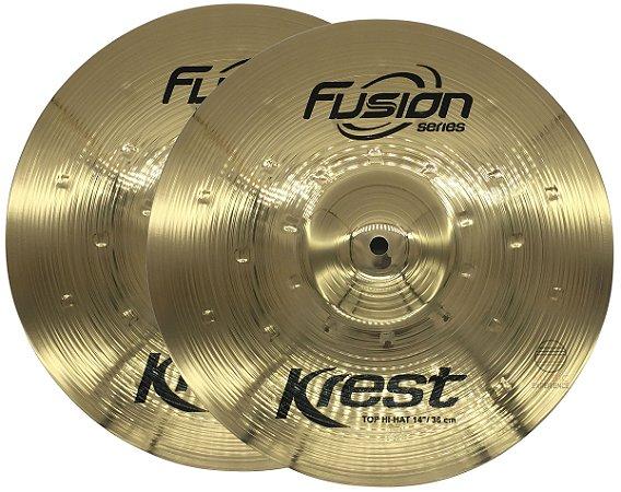 Prato chimbal hi hat 14 bronze krest medium Fusion F14Mh