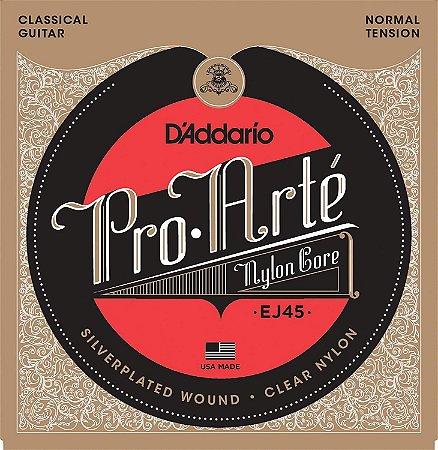 Encordoamento Daddario Pro Arte violão Nylon Ej45 media NF-e