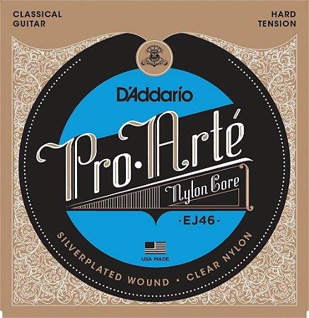 Encordoamento Daddario Pro Arte violão Nylon Ej46 alta NF-e