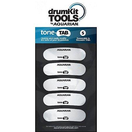 Adesivo Aquarian abafador P/ Tambores ToneTAB Kit 5 Unidades