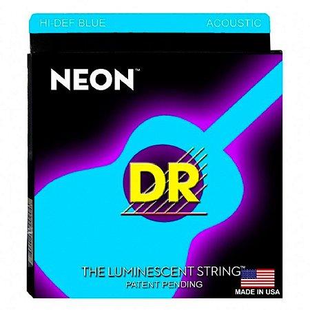 Encordoamento Violão Aço Neon Blue Dr Strings 012 Azul NBA12