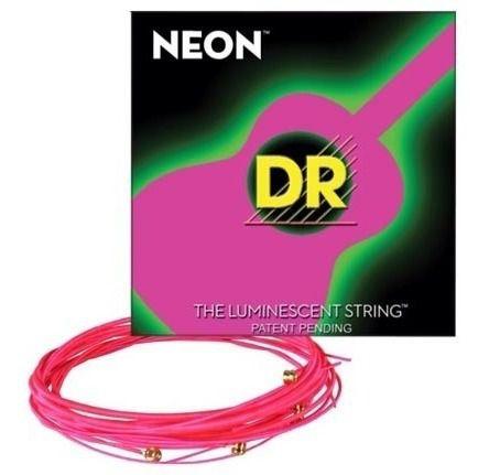 Encordoamento violão aço NEON Pink DR STRINGS 012 - NPA-12