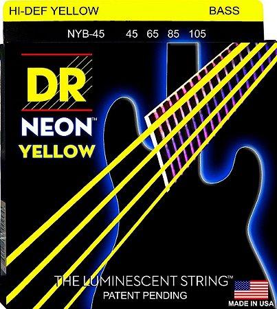 Encordoamento DR Strings NEON Yellow 045 4 C NYB-45 AMARELO