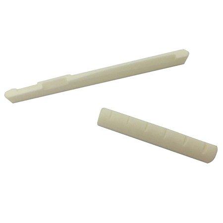 Kit de osso rastilho 43mm e Pestana nut para violão aço