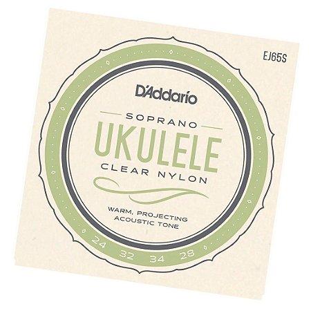 Encordoamento P/ Ukulele - Soprano - Daddario Ej65S Jg Corda