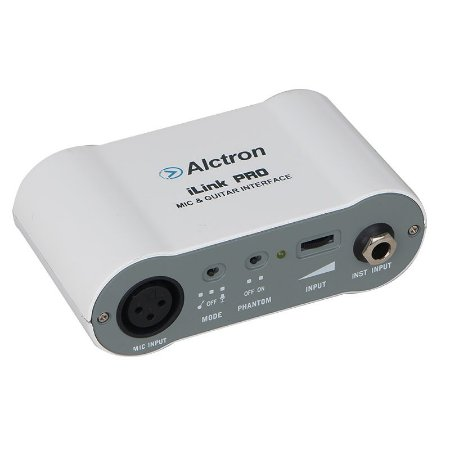 Interface audio iOS iPad IPhone Mic Guitar Alctron ilink Pro