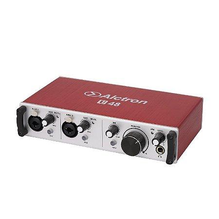 Interface audio Alctron U48 192khz USB Mac PC 2 canais