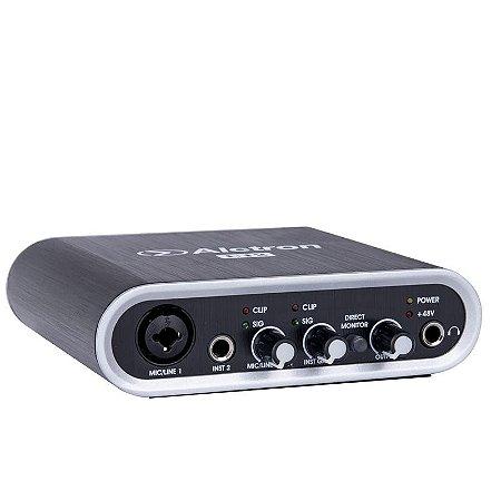 Interface audio USB 2x2 96khz 24bit Alctron U12 preto