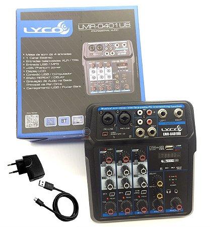 Mesa som 4 canais 0401 USB player Rec bluetooth efeito interface