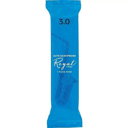 Palheta Rico Royal Sax Alto 3 rjb0130 Daddario unidade