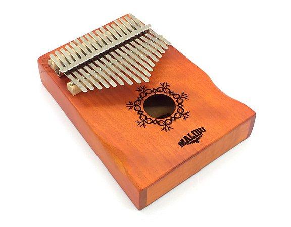 Kalimba profissional 17 notas madeira mogno Mbira