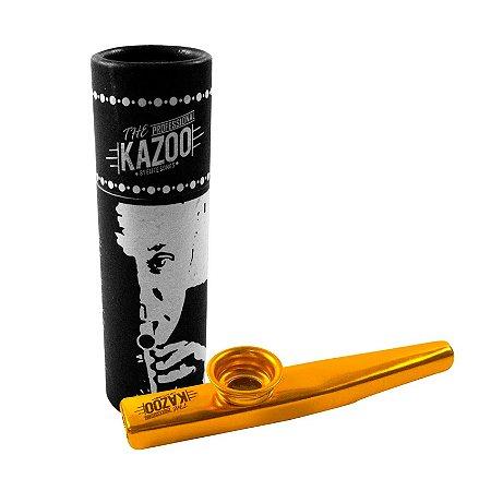 Kazoo profissional dourado metalico
