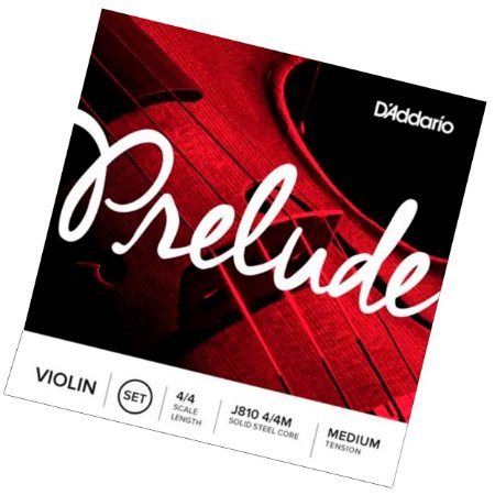 Encordoamento para violino Daddario Prelude 4/4 J810 tensão Médio