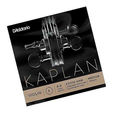 Corda Avulsa Mi Daddario violino Kaplan 4/4 medium KS311W