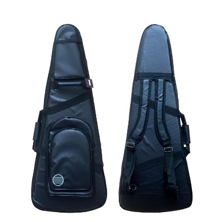 Capa semi bag p/ guitarra Lona marítima veludo 3 bolsos bk