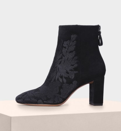 REGINA MAIALINO EMBROIDERY BLACK
