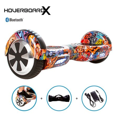 "Hoverboard Skate 6,5"" Grafite Urbano HoverboardX Bluetooth"