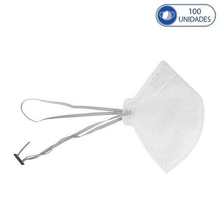 100 Máscaras Descartáveis M.F.Q PFF2 Proteção Pessoal Branca